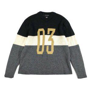 Harley-Davidson Mens Wool Color Block Sweater XL